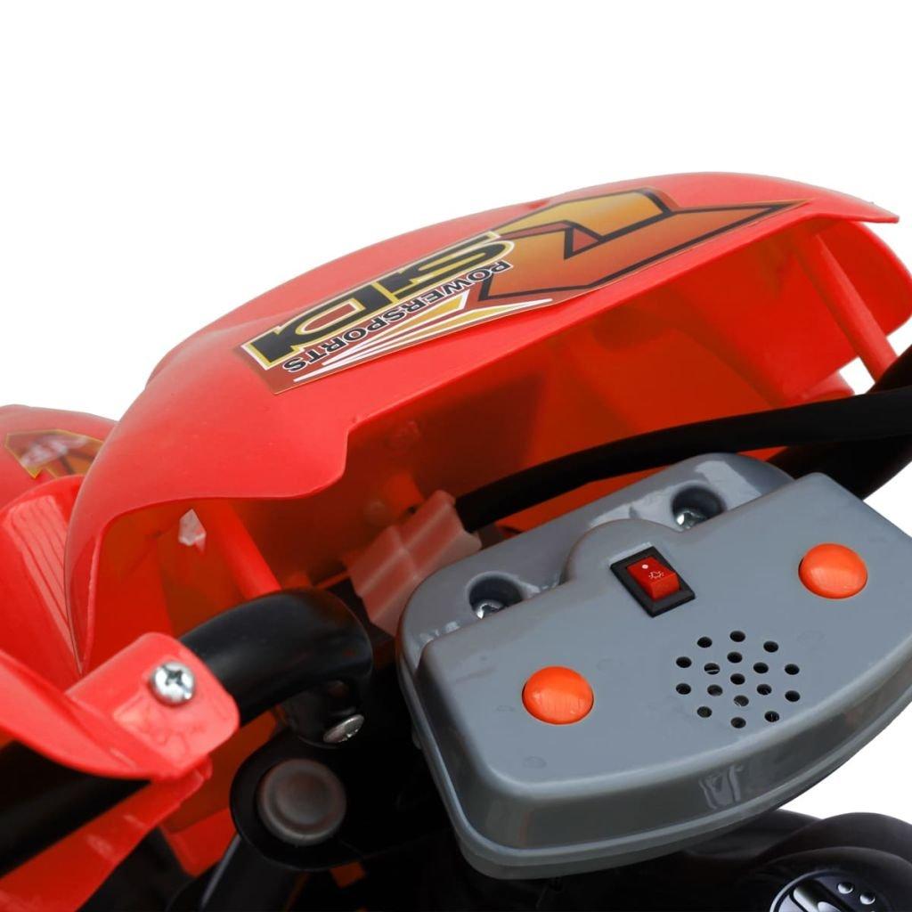 vidaXL Motobicicleta Batería Eléctrica de Niños Roja y Negra Moto de Juguete: Amazon.es: Juguetes y juegos