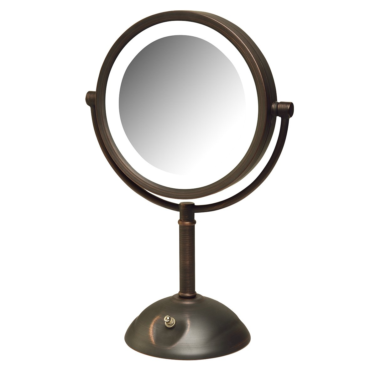 Jerdon HL8808BZL 8X Magnification LED Lighted Table Top Mirror, Bronze