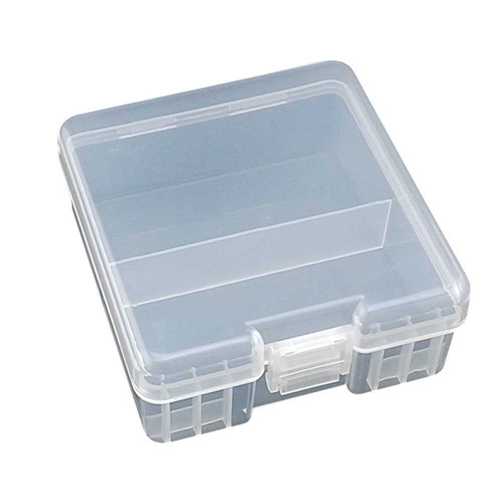 Kaimao Hard Plastic Battery Case Holder Storage Box Container for 24 x AAA Batteries