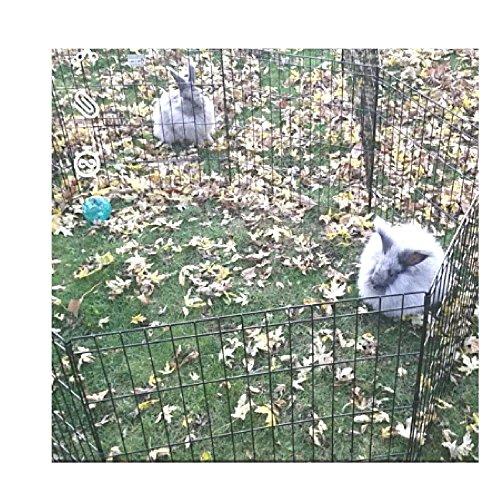 Bunny ExercisePen Door Playpen Tall Outdoor Heavy Duty Dog Kennel Crate Folding Portable & eBook OISTRIA
