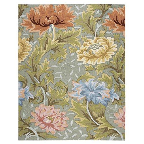 Pastel Acrylic Rug - Nourison Fantasy Slate Floral Area Rug 5' x 7'6