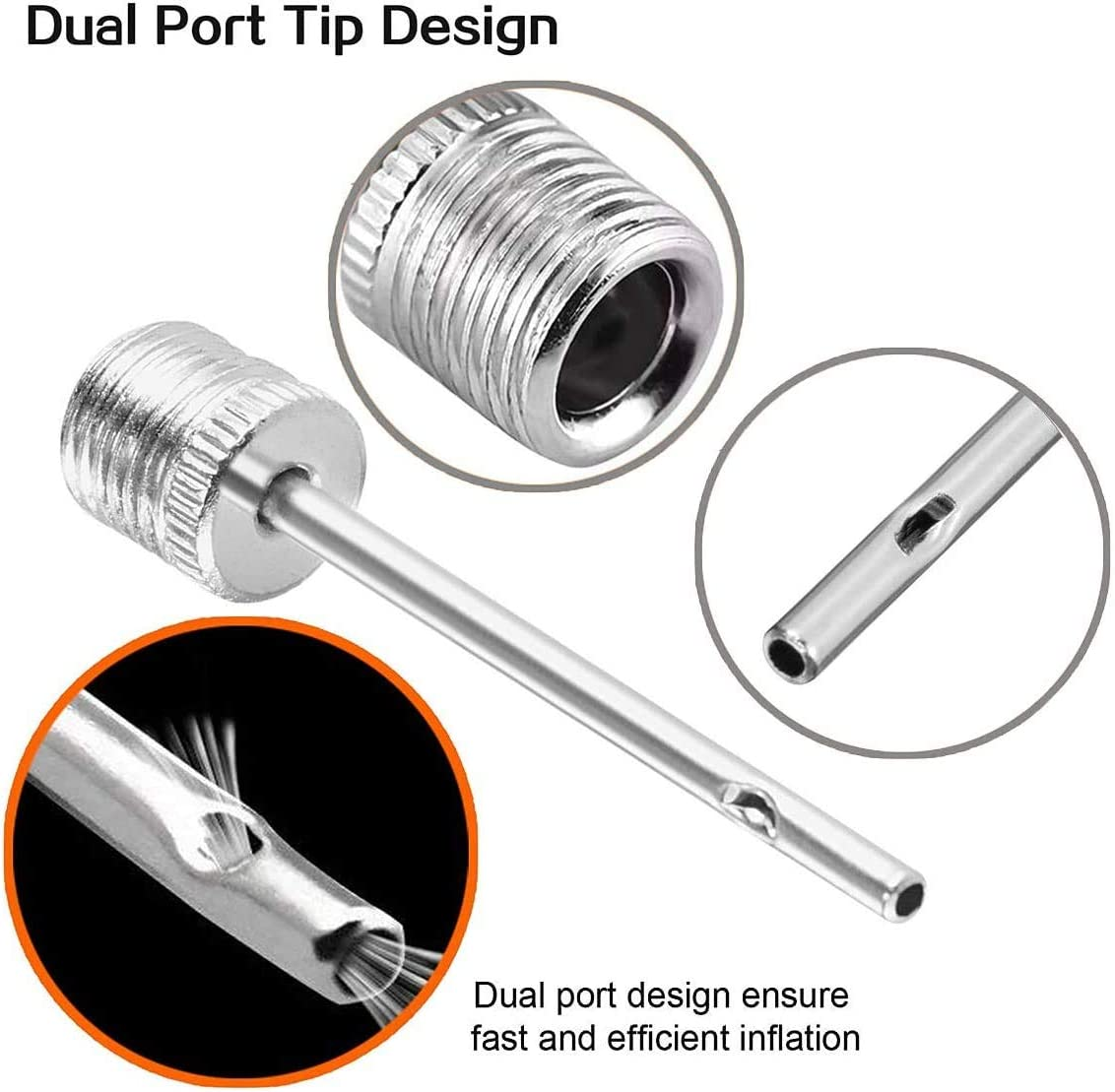 1PCS Steel Sports Ball Pump Needle Air Inflation Needle Pin Nozzle NEW