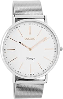 Armbanduhr damen silber  Oozoo Damen-Armbanduhr C7395: Amazon.de: Uhren