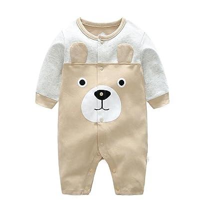 836ca384ef636 エルフ ベビー(Fairy Baby)新生児服 カバーオールロンパース 前開き 長袖 可愛いクマ柄