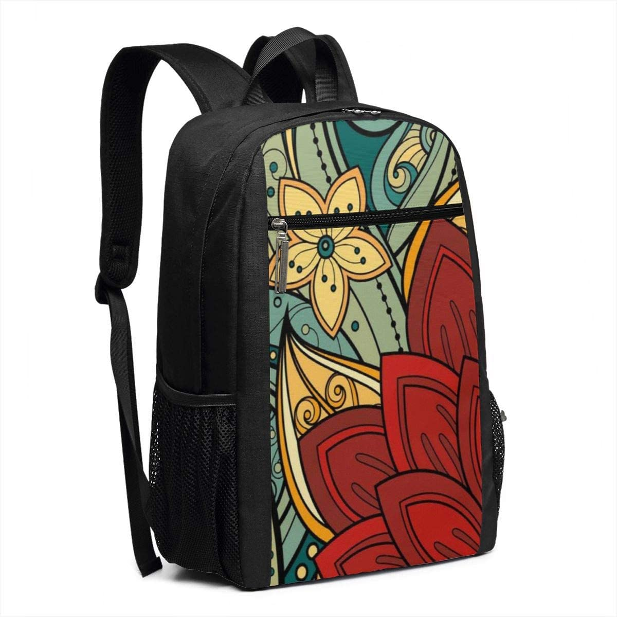 XTYND556 Flowers College Commuter Backpack Large Capacity Laptop Bag 17 Inch Travel Bag