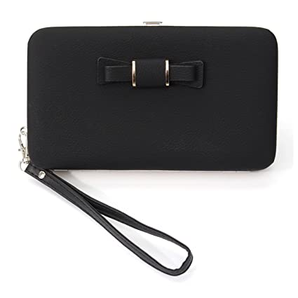 8193f8103e7 Ladies Purse Wallet, Charminer Women's Wallet Large Capacity Phone Case  Mobile Phone Bag With Hand Wrist,Credit Card Slots , Ribbon,  Multi-Functional ...