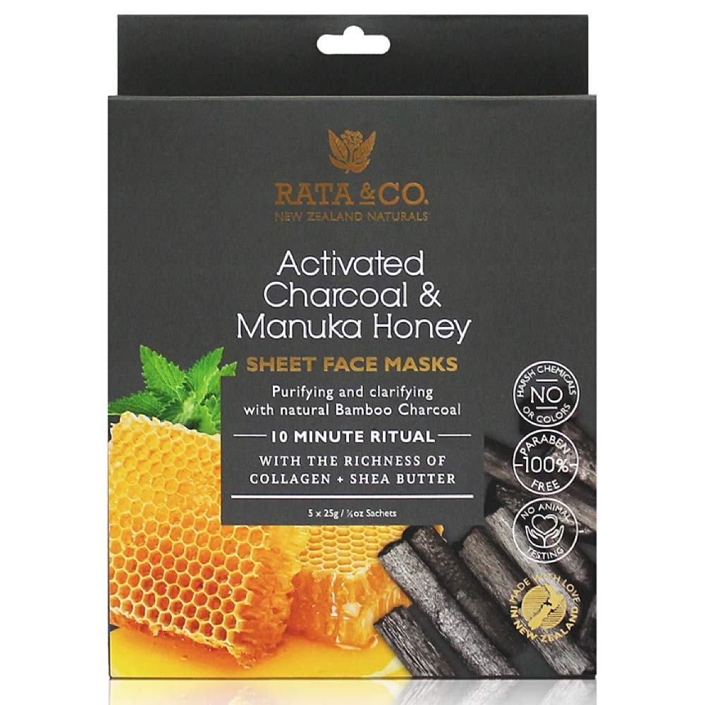 Rata & Co. Zealand Naturals Activated Charcoal & Manuka Honey Facial Mask
