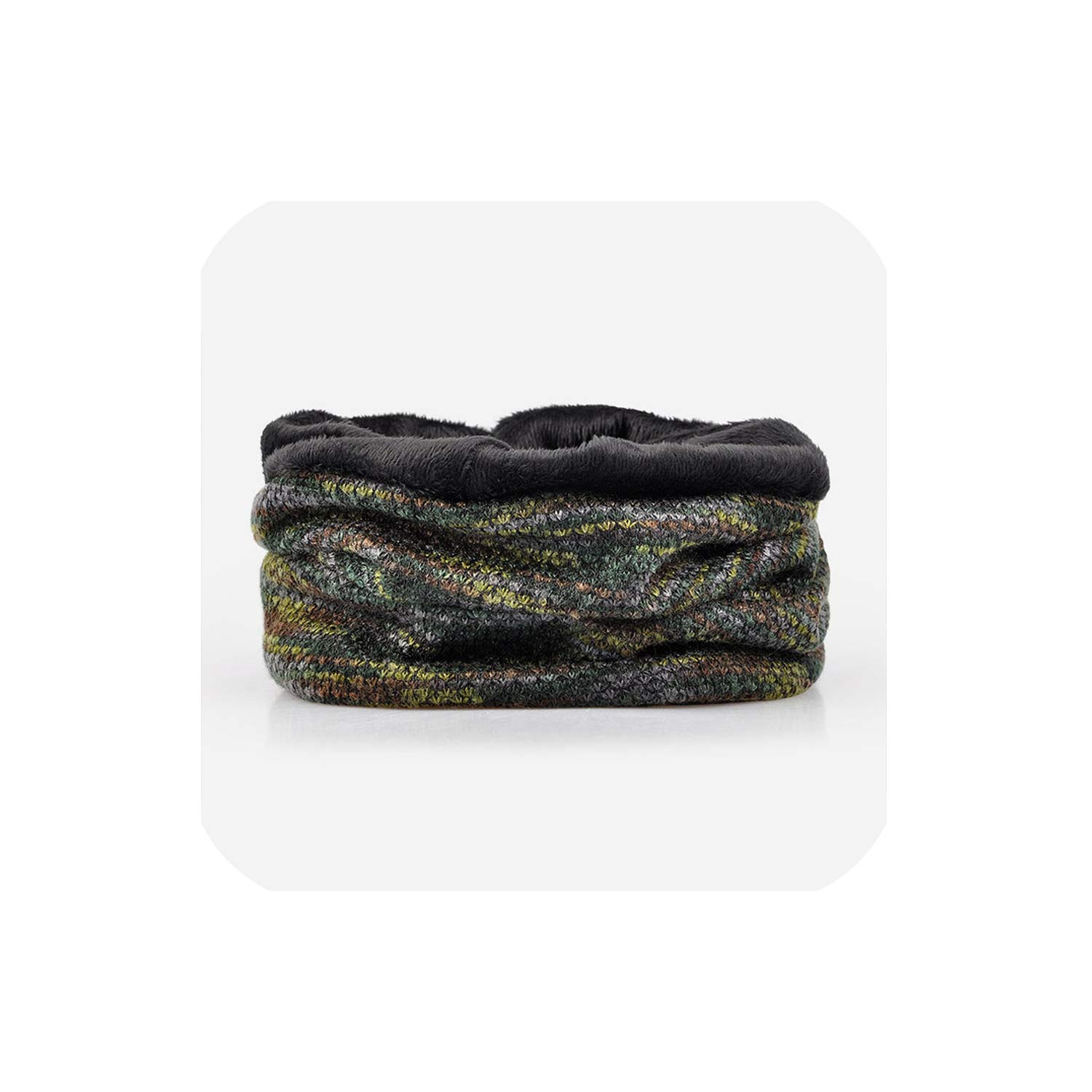Beanies Collar Scarf Women or Mens Hats Warm with Velvet Inside