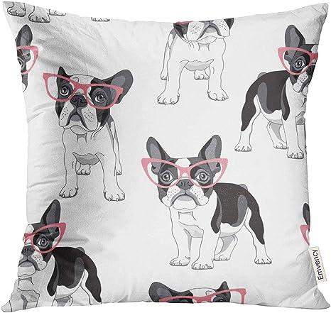 French Bulldog Pillow Case Cartoon Animals Cushion Cover Sofa Home Decorative