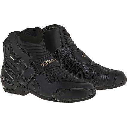 Amazon.com: Alpinestars SMX-1R Womens Street Motorcycle Boots - Black/Gold / 39: Automotive