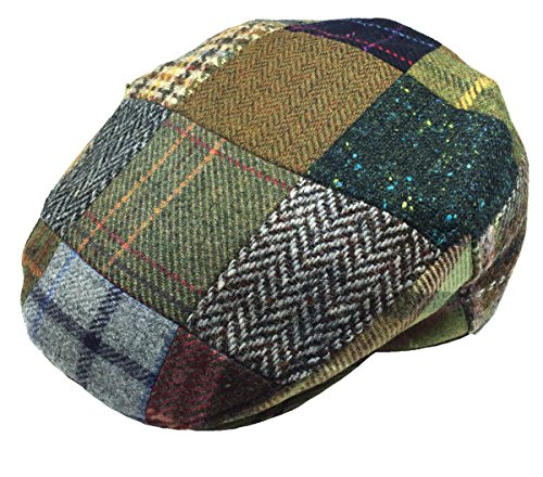 097b0f986dc57 John Hanly Men s Flat Irish Hat Patchwork 100% Wool Made in Ireland at  Amazon Men s Clothing store