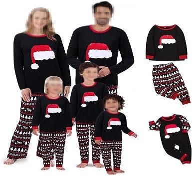 DISCOUNTL Pijama de Navidad a Juego con diseño de Letras ...