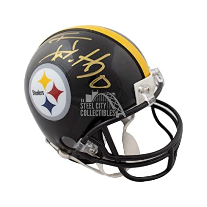 3d4a79312 Image Unavailable. Image not available for. Color  Tj Watt Autographed  Signed Pittsburgh Steelers Mini Football Helmet Memorabilia - JSA Authentic