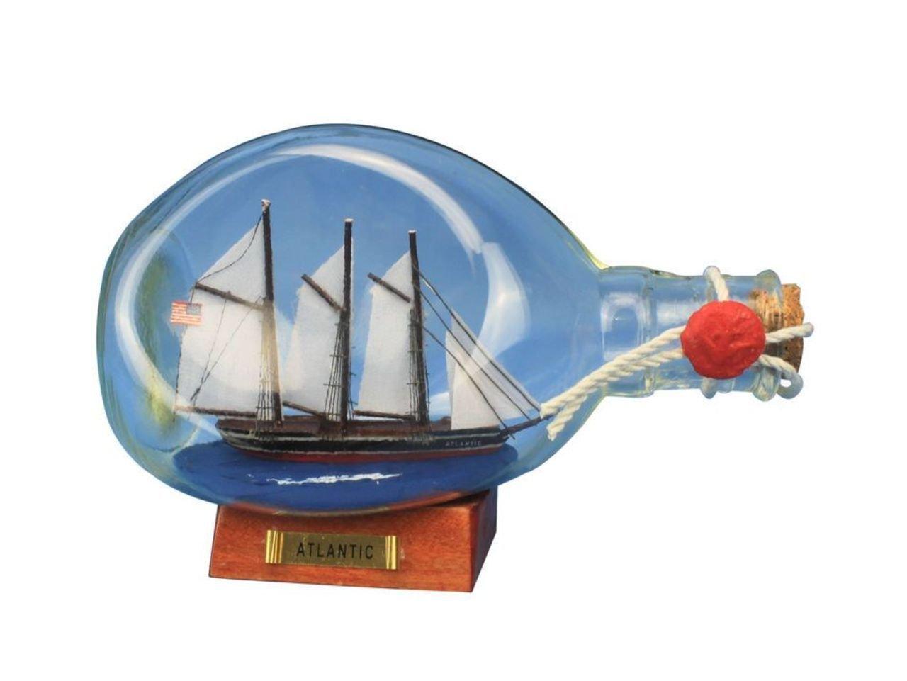 Hampton Nautical Atlantic Ship in A Glass Bottle 7