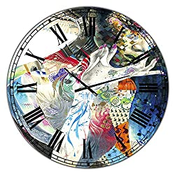 Designart 'Urban Beauty Wondering ' Large Modern Wall Clock