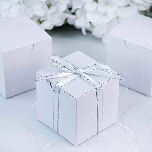 Cupcake Cookie Candy Wedding Favor Treat Gift Box 3x3x3