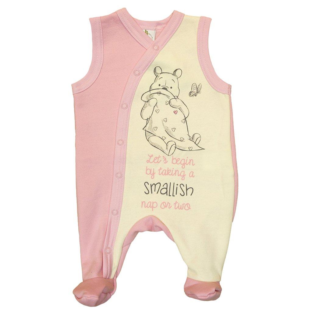 Kleines Kleid Winnie The Pooh gef/ütterter Strampler mit F/ü/ßchen
