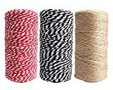 FASOTY 900 Feet Natural Jute Twine Arts and Crafts Jute Rope Industrial Packing Materials Packing String for DIY Crafts, Festive Decoration and Gardening Applications