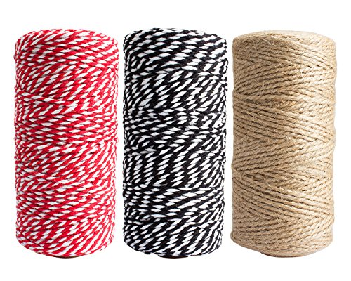 FASOTY 900 Feet Natural Jute Twine Arts and Crafts Jute Rope Industrial Packing Materials Packing String for DIY Crafts, Festive Decoration and Gardening Applications by FASOTY