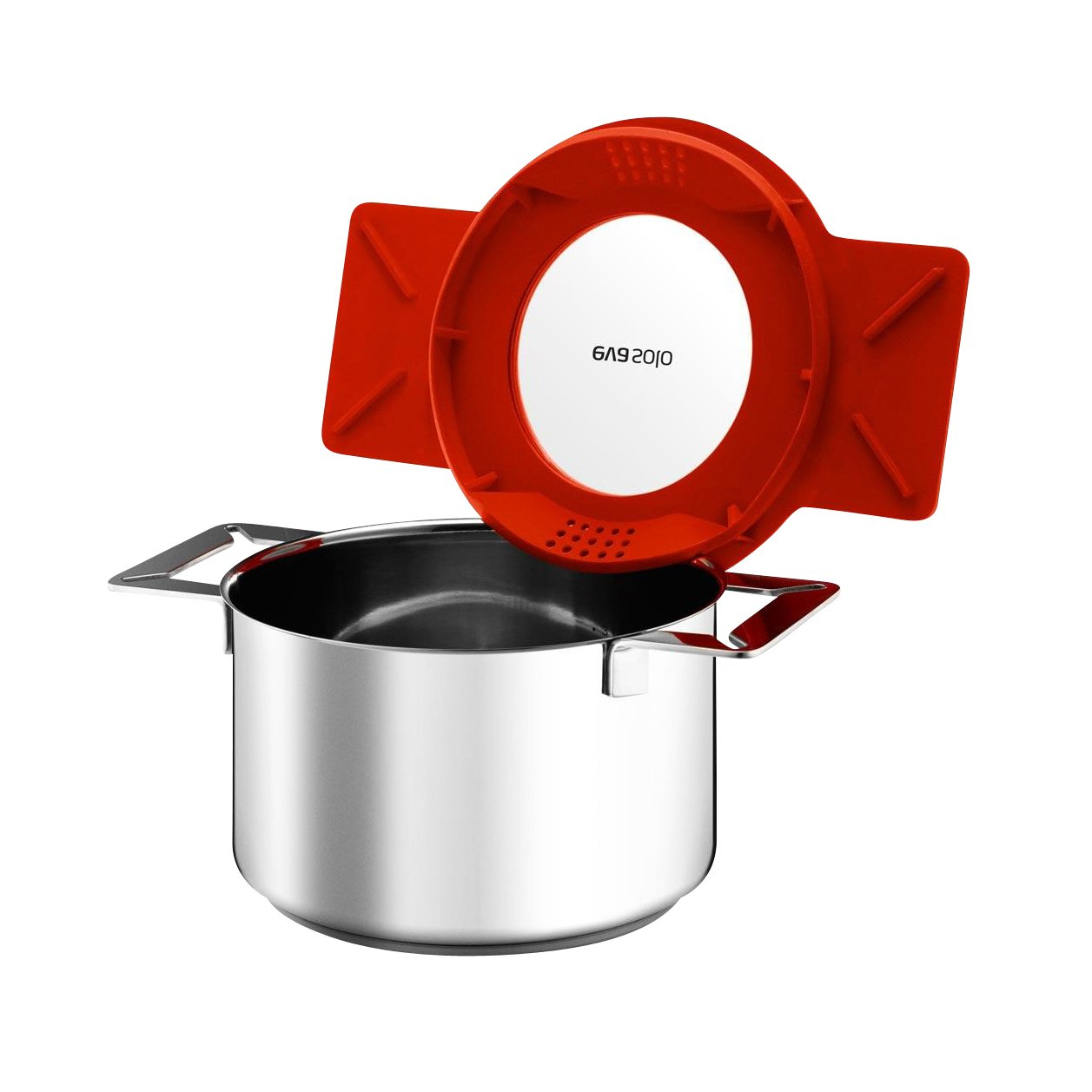 Eva Solo Gravity Cookware - Stainless Steel Diswasher Safe Sauce Pan with Multifunctional Lid (2-Liter Saucepan)