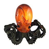 Resin Accent Lamps Colorful Swirled Glass Octopus Accent Lamp Bronzed Base 5.75 X 6 X 7.25 Inches Multicolored
