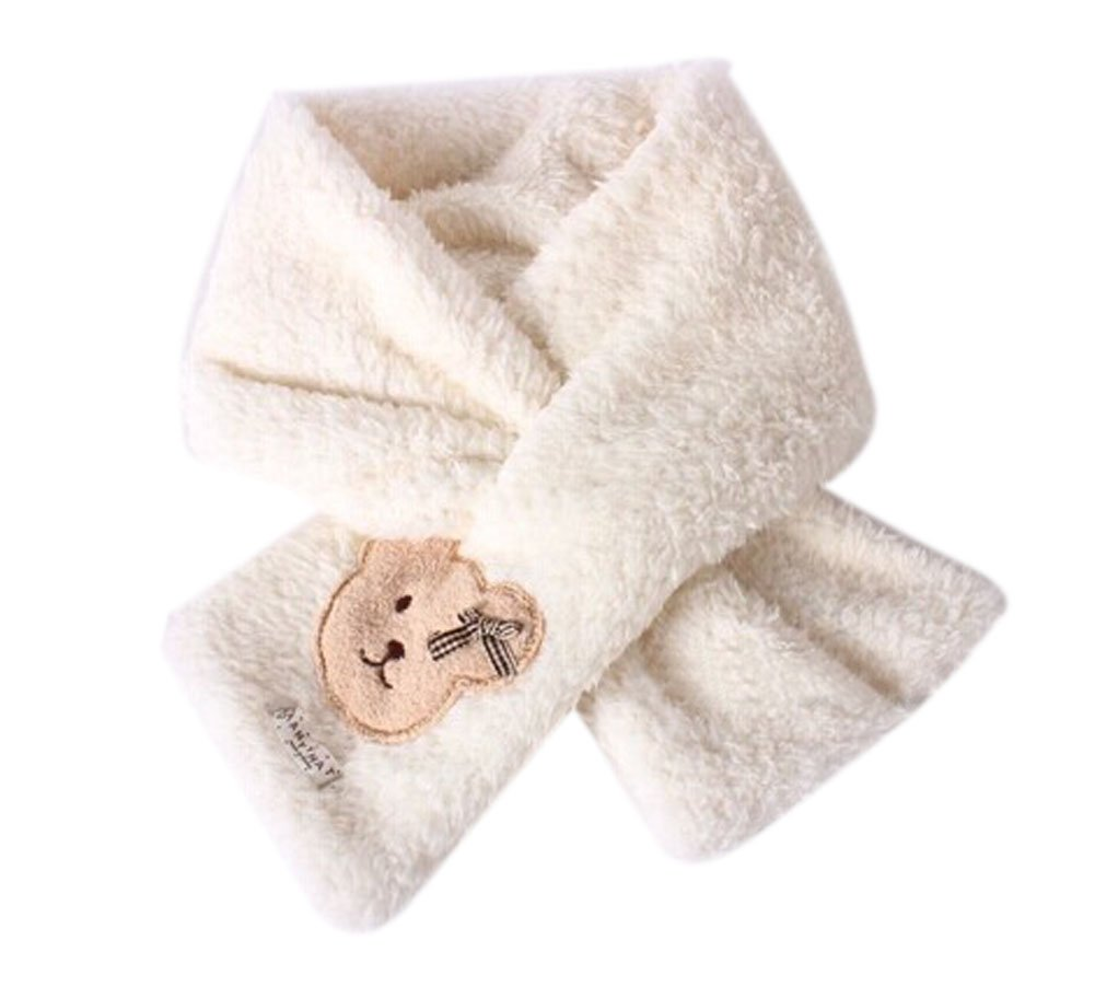 Cute Winter Warm Baby Bear Scarf For 2-10 year-old girls (White) 82x17cm BT-CLO2475013011-KAY00400