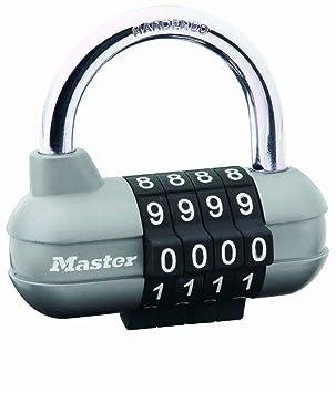 Audacieuse Master Lock Cadenas à combinaison program 4 Chiffres Gris 59 mm FV-64