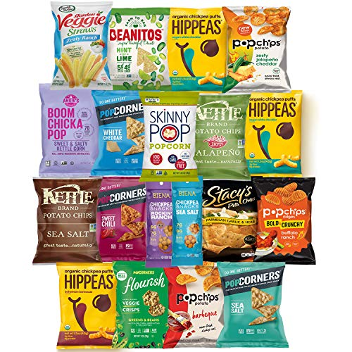 Ultimate Premium Healthy Chips & Snacks Care Package Variety Pack by Variety Fun (Care Package 35 Count) by Custom Varietea (Image #1)