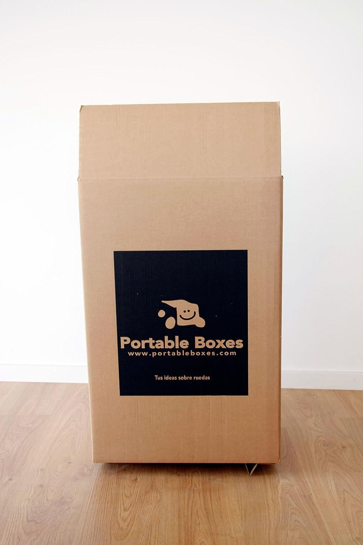 3 Cajas de cartón para mudanzas de alta calidad con ruedas incorporadas: Amazon.es: Hogar
