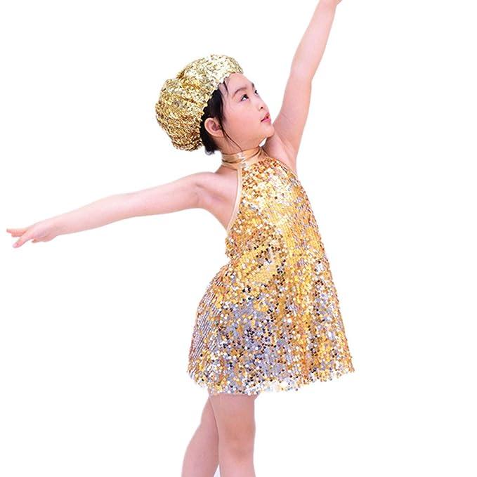4431615aa705 Jazz Costumes Amazon   IEFiEL Boys Girls Sequined Vest Top Waistcoat ...