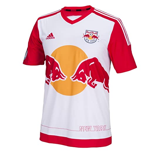 786bc5a7d Amazon.com  adidas MLS NY Red Bull Jersey  White   Sports   Outdoors