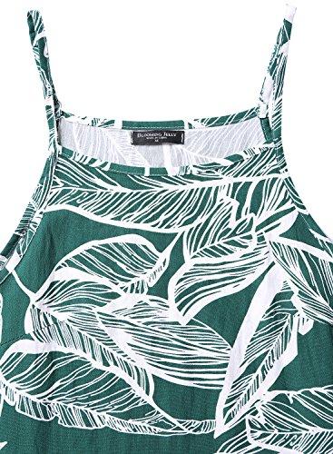 Floraison Sans Manches Femmes Gelée Imprimé Fleur Style Décontracté Floral Vert Mini Robe