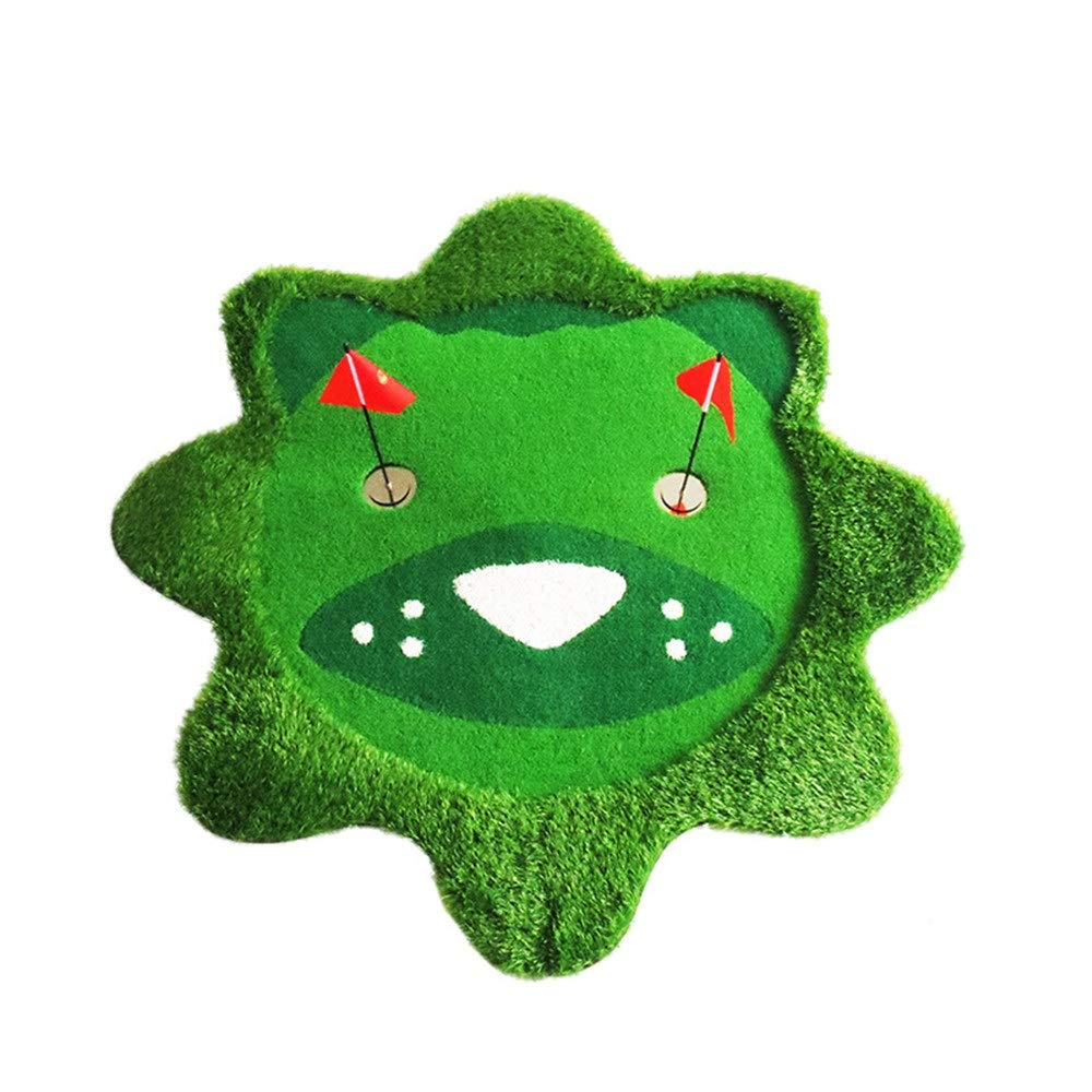 ファミリーゴルフマット 子供の屋内人工パターグリーンユースゴルフパッティング練習かわいい漫画の子供ポータブルゴルフパッティンググリーンマット ゴルフグリーン (色 : 緑, サイズ : 1.5*1.5M) 1.5*1.5M 緑 B07SD4HMSD