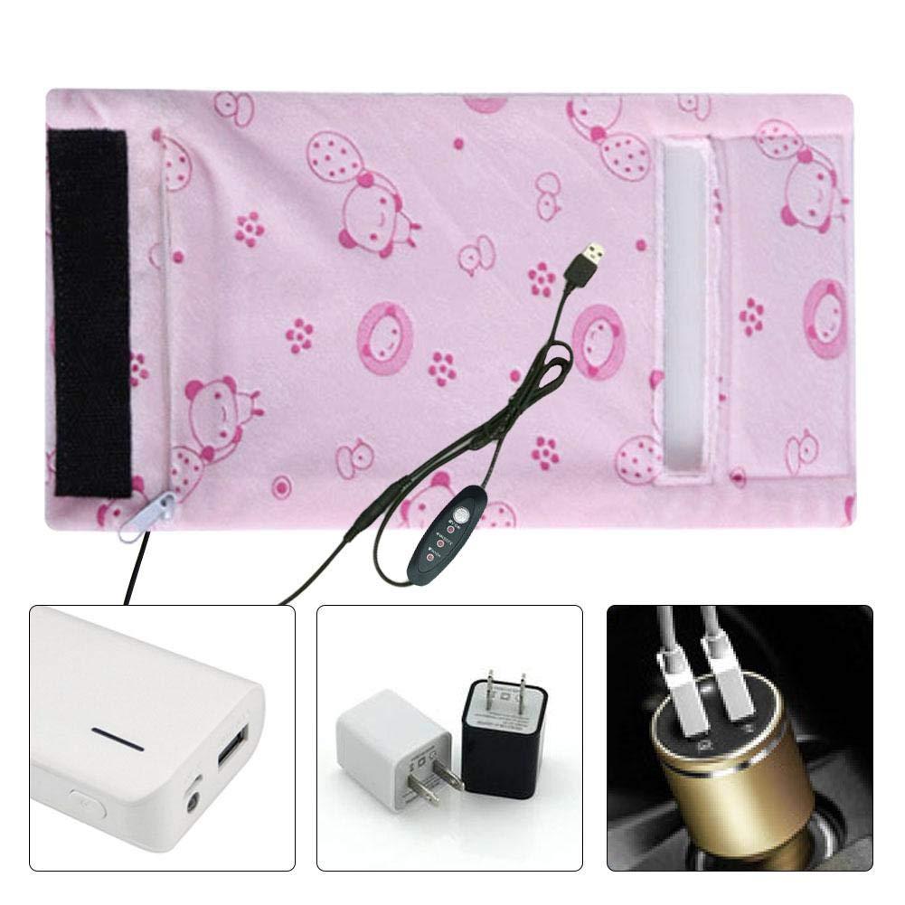 USB-Flaschenw/ärmer Isolierbeutel F/ütterungsflaschen-Thermostat Abnehmbare tragbare Milchheizungs-Isolationsbeutel F/ütterungsflaschenw/ärmer 3 Stufeneinstellung Temperaturregelung Tragbar Verdickt