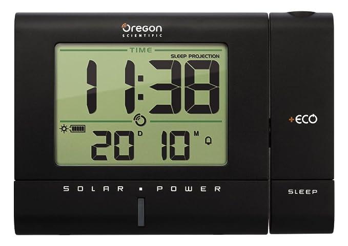 Oregon Scientific RM 336 PES Reloj proyector Solar, Color Negro ...