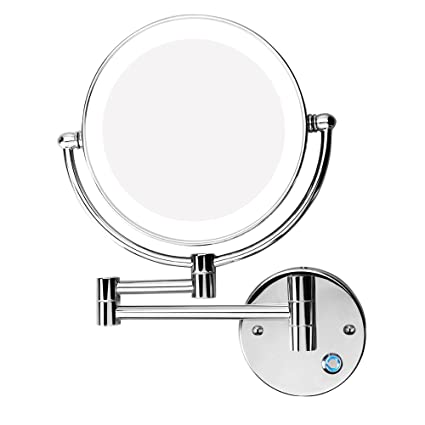 Gentil Amazon.com   Excrst Wall Mounted Makeup Mirror, Makeup Mirror LED Wall  Mount Bathroom Mirror Wall Mirror 10x Magnification Cosmetic Mirror  (8 Inch)