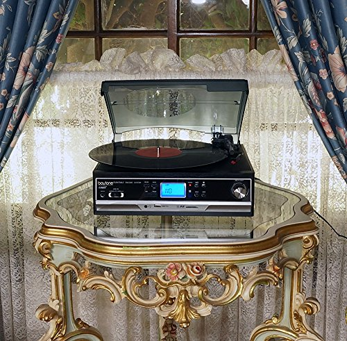Boytone BT-16DJB-C 3-speed Stereo Turntable with 2 Built in Speakers Digital LCD Display + Supports USB/SD/AUX+ Cassette/MP3 & WMA Playback /Recorder & Headphone Jack + Remote Control by Boytone (Image #6)