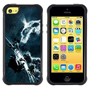 Fuerte Suave TPU GEL Caso Carcasa de Protección Funda para Apple Iphone 5C / Business Style Asteroid Belt Apocalypse Planet Art Earth Grey