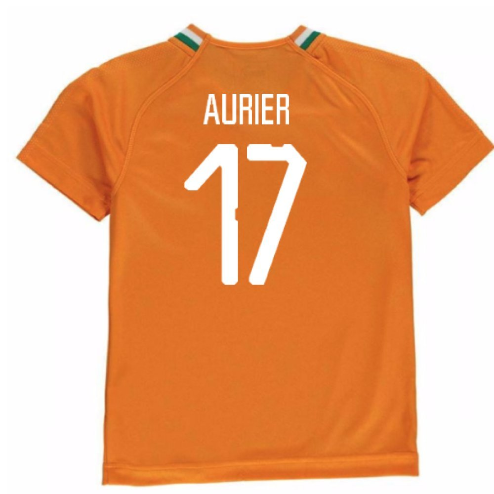 2018-19 Ivory Coast Home Football Soccer T-Shirt Trikot (Serge Aurier 17) - Kids