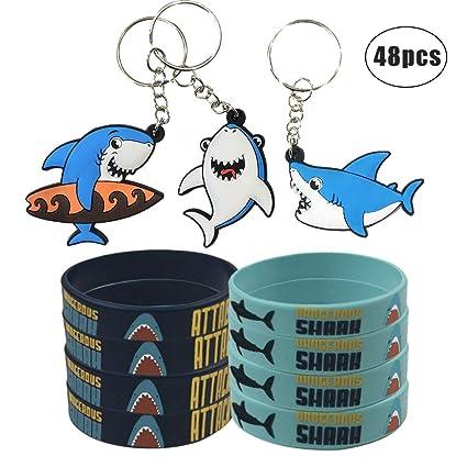 Amazon.com: Shark Party Favors Suministros Decoraciones con ...