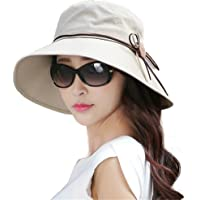 Siggi Ladies Summer Sun Hat Bucket Cord Packable Wide Brim UPF50+ for Women