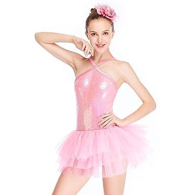 b550d349d550 Amazon.com  MiDee Halter Sequins Tires Tutu Dress Dance Costume for ...