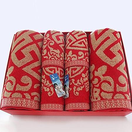 zhfc Red Hi boda Don boda Don Algodón Adult amado toalla toalla ...