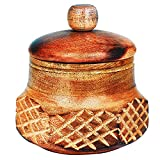 Decorative Rustic Wooden Sugar Bowl With Lid Wide Mouth Candy Treat Jar Spice Jar Holder Condiment Nuts Serving Bowl Pot Salt Spice Herb Loose Leaf Tea Storage Container Novelty Home & Kitchen Utensil