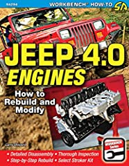The venerable Jeep 4.0L in-line 6 engine has powered millions of Jeeps, including CJs, Wranglers, Cherokees, and Wagoneers. The 4.0 delivers adequate horsepower from the factory, but many off-road drivers want more horsepower and torque to co...