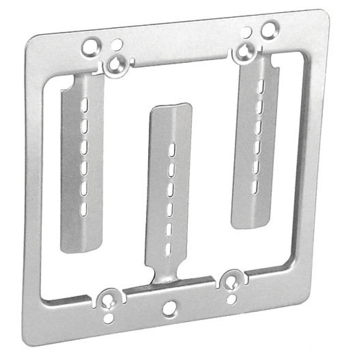 5 Pcs, Zinc Plated Steel Two Device Opening Mounting Bracket For 1/2 Or 5/8 In. Drywall, w/Mounting Screws to Mount Vertically Or Horizontally In New Construction