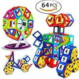 64PC Magnetic Building Blocks Kids Magnetic Toys 3D Magnetic Tiles Educational Building Construction Toys for Boys and Girls