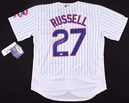 0c9b6bd614c Addison Russell Autographed Signed Chicago Cubs Pinstripped Majestic MLB  Jersey - PSA DNA Certified