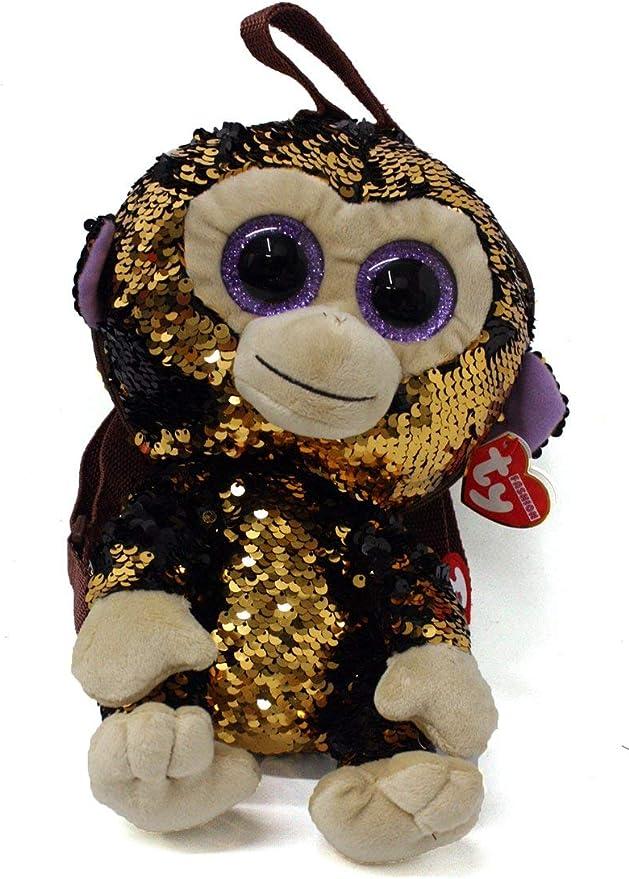 Ty TY95022 - Mochila de peluche con lentejuelas, color marrón: Amazon.es: Ropa y accesorios