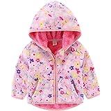 JanLEESi Toddler Polar Fleece Hoodie Jacket Baby Boys Girls Winter Warm Outerwear